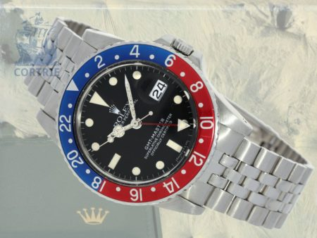 Wristwatch: vintage Rolex GMT Master reference 16750 with original box, from 1983-