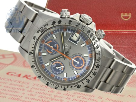 Wristwatch: extremely rare vintage Tudor chronograph ref. 9420, so-called Monte Carlo, from the 70s/80s, with original box-