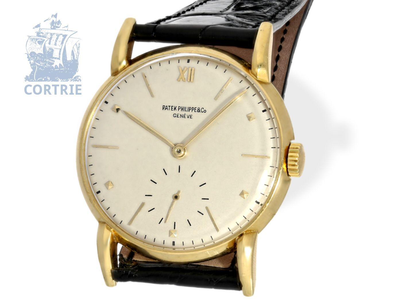 Wristwatch: very fine and early Patek Philippe gentlemen's watch from 1947, rare reference 1595, very beautiful condition-