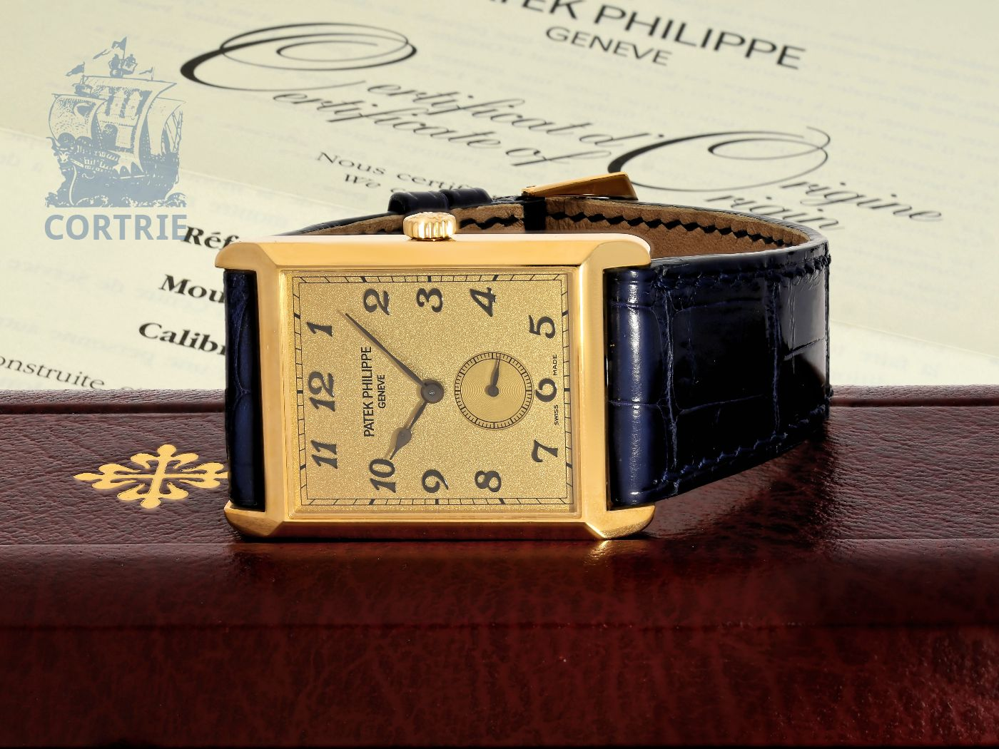 Wristwatch: big Patek Philippe gentlemen's watch REF. 5109J GONDOLO BREGUET, condition like new, with box and all certificates (full set)-