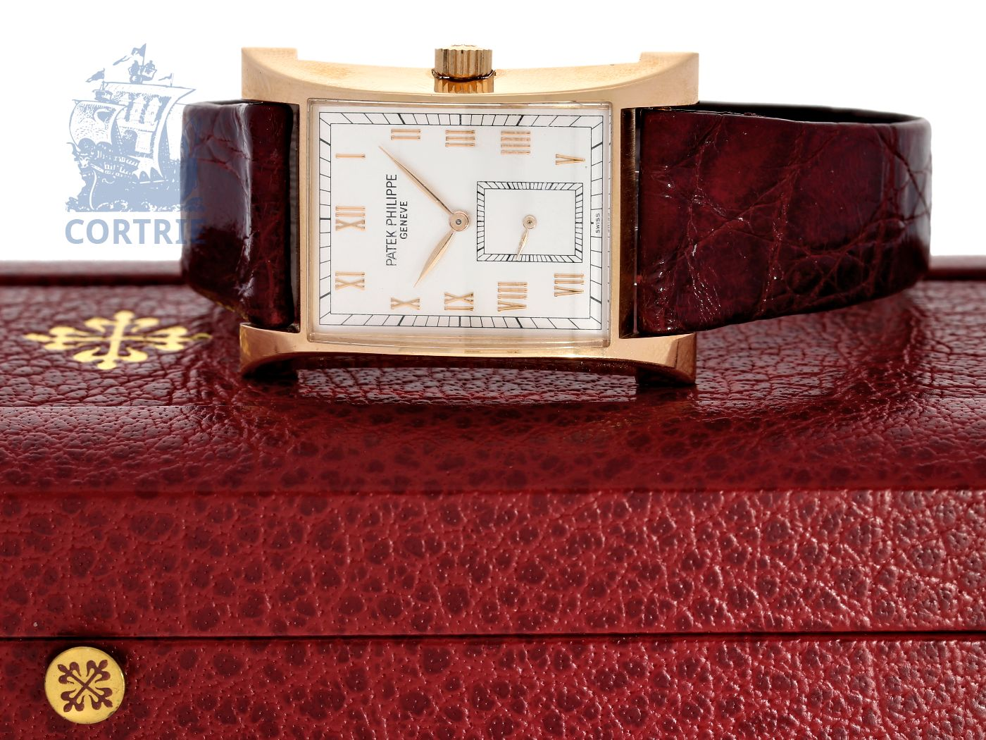 Wristwatch: popular, big and limited gentlemen's watch Patek Philippe 18K PINK GOLD 1997 Commemoration Pagoda, Ref.5500, unused, with original box-