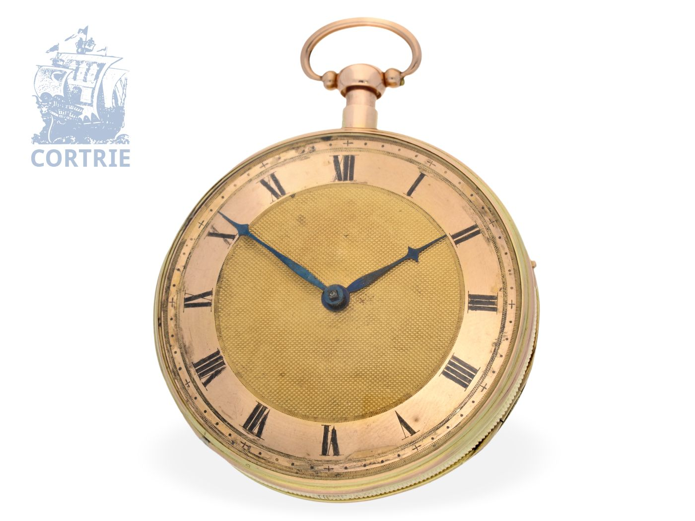 Pocket watch: big and heavy French repeater with music movement, France ca. 1820-