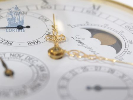 Pocket watch: extremely rare and heavy, limited and astronomical gold hunting case watch by Longines, probably unique piece-