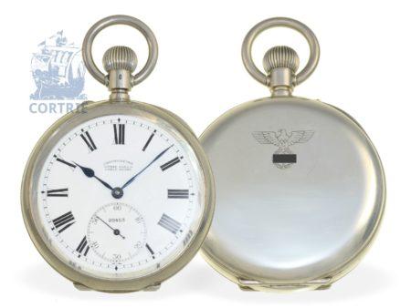 Pocket watch: very fine Ulysee Nardin Ankerchronometer of the German Navy, ca. 1940-