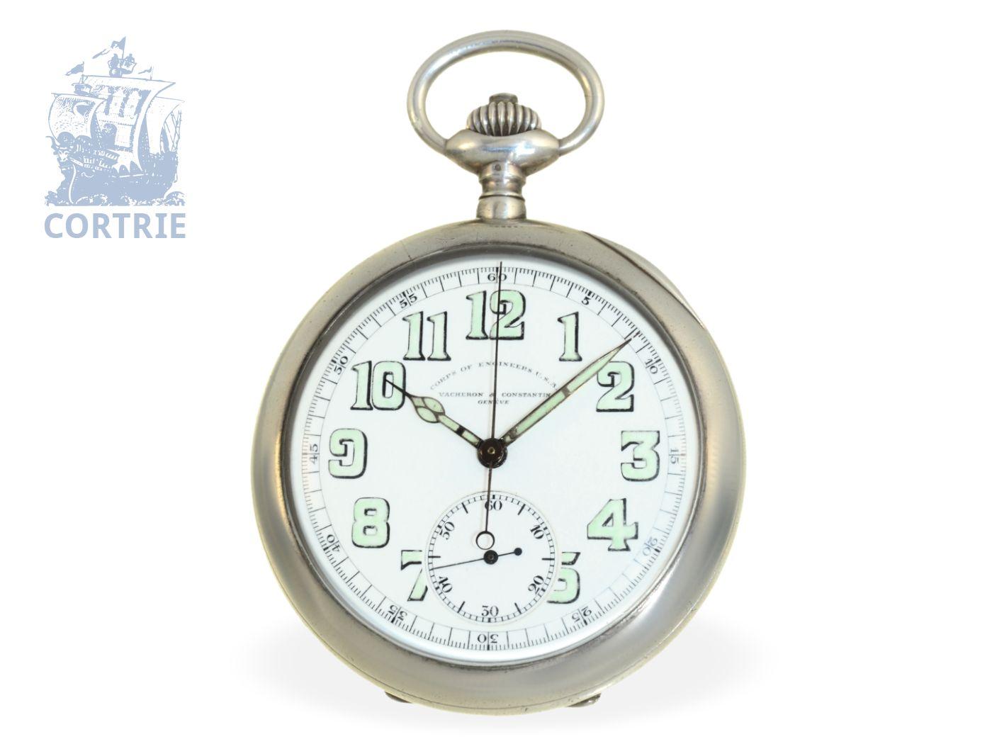 Pocket watch: rare Vacheron & Constantin military chronograph VACHERON & CONSTANTIN CORPS OF ENGINEERS USA, Geneva ca. 1920-