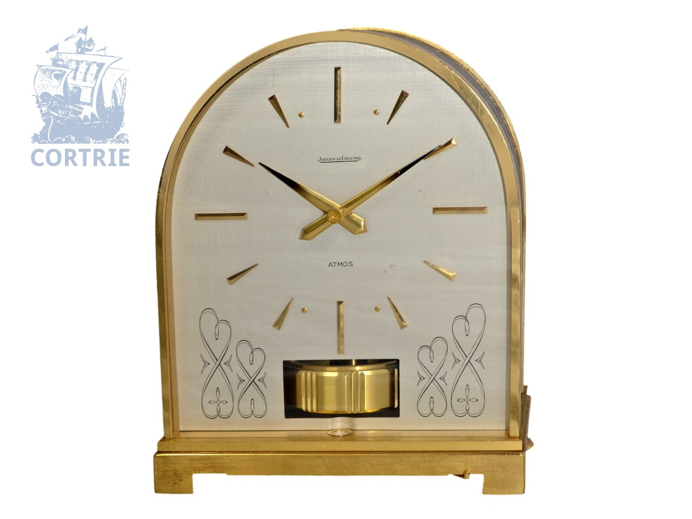 Table clock: vintage Jaeger Le Coultre Atmos Borne, from the 60s-