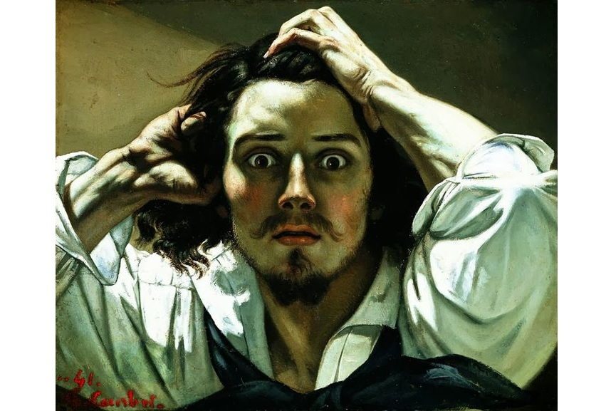 The famous self portraits include this painting by Gustave Courbet