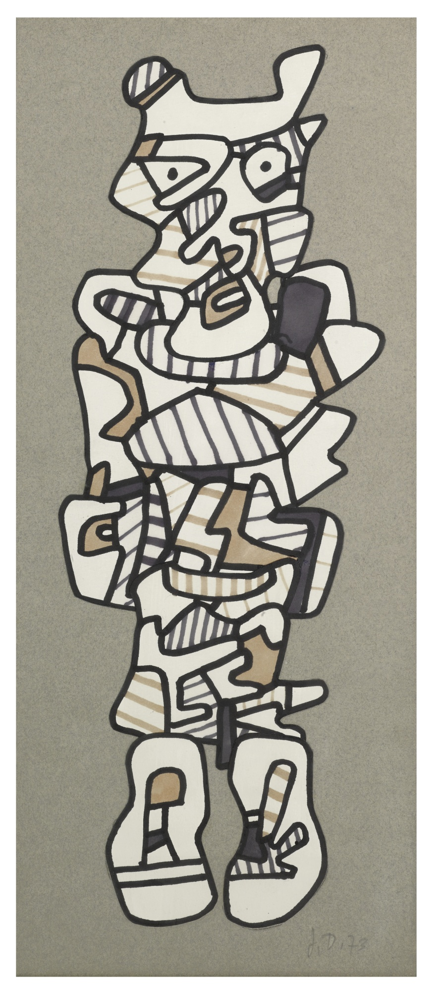 Jean Dubuffet-Personnage-1973