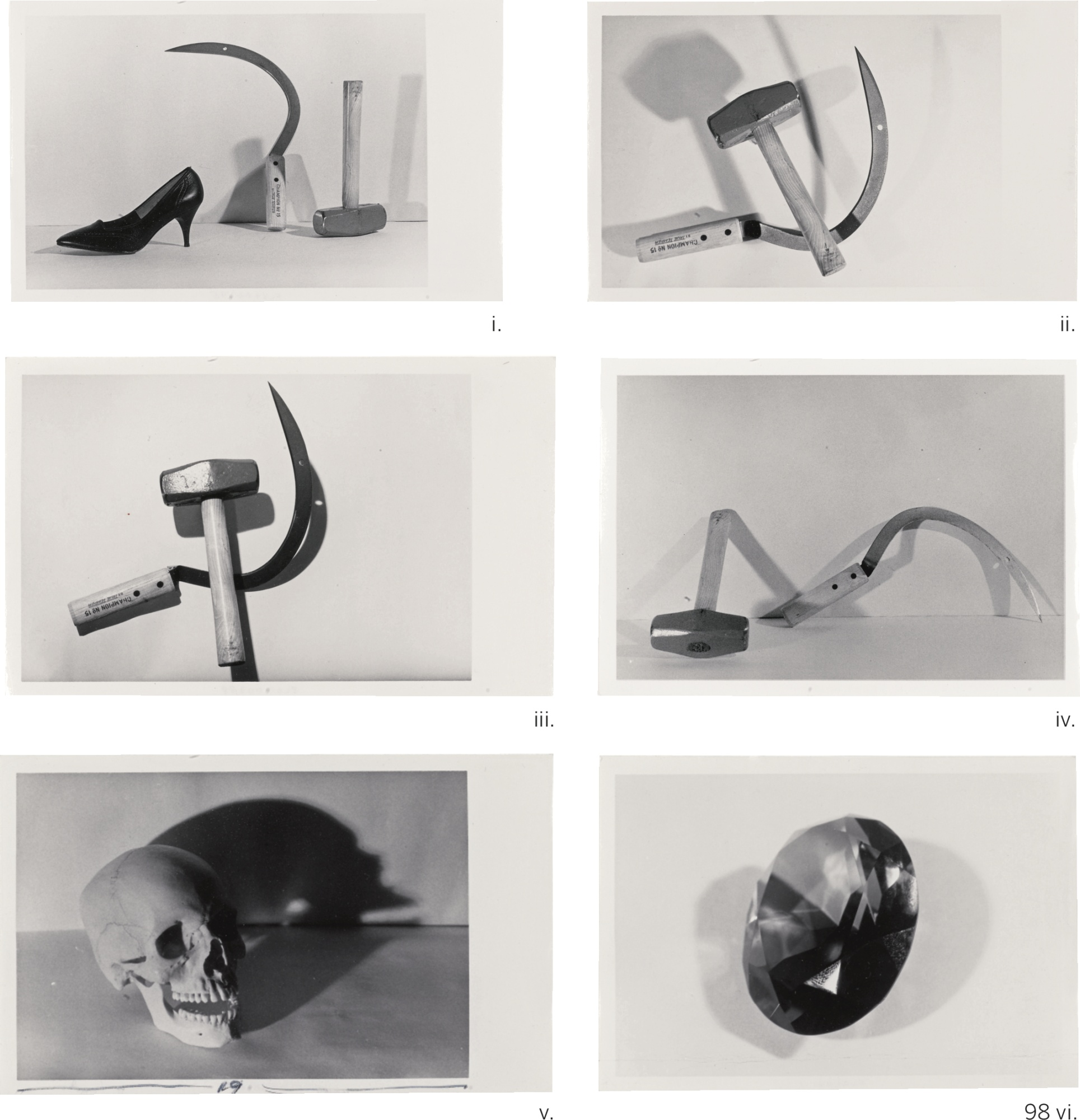 Andy Warhol-I-IV. Hammer And Sickle V. Skull VI. Gem-1978