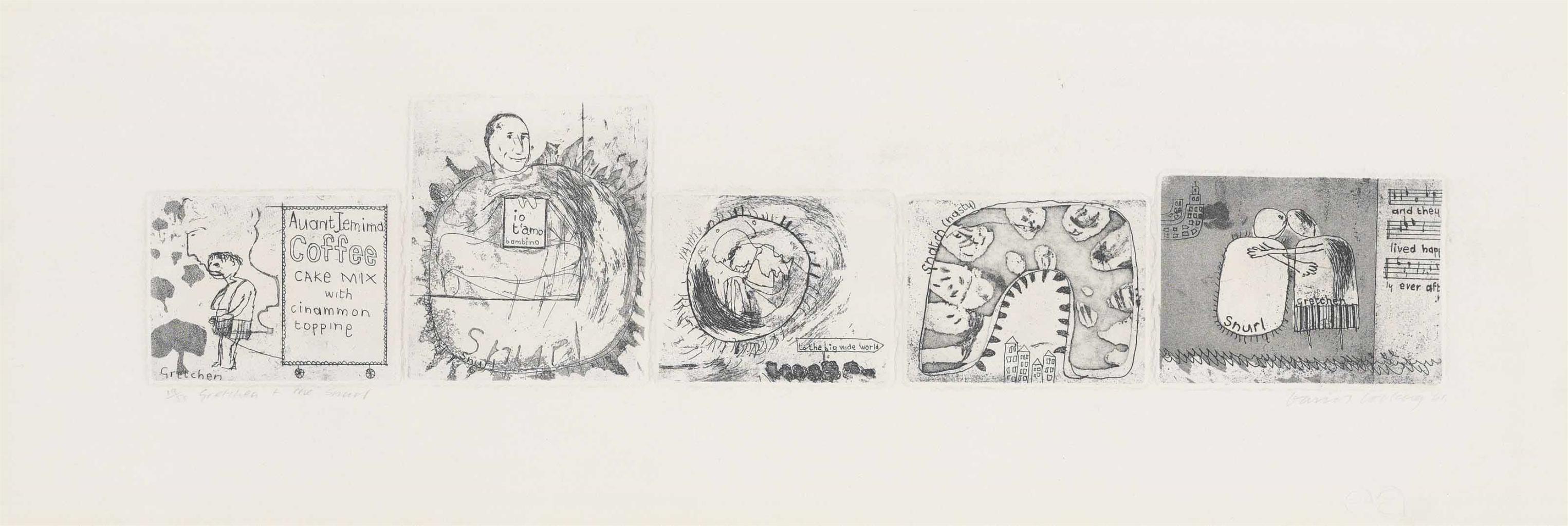 David Hockney-Gretchen and the Snurl-1961