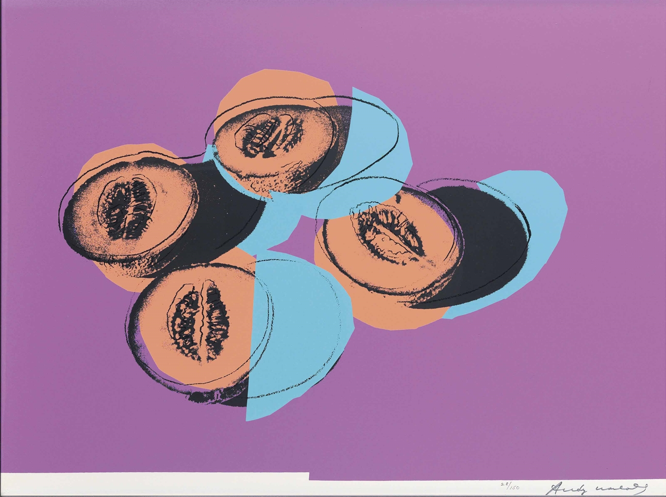 Andy Warhol-Cantaloupes II from Space Fruit: Still Lifes-1979