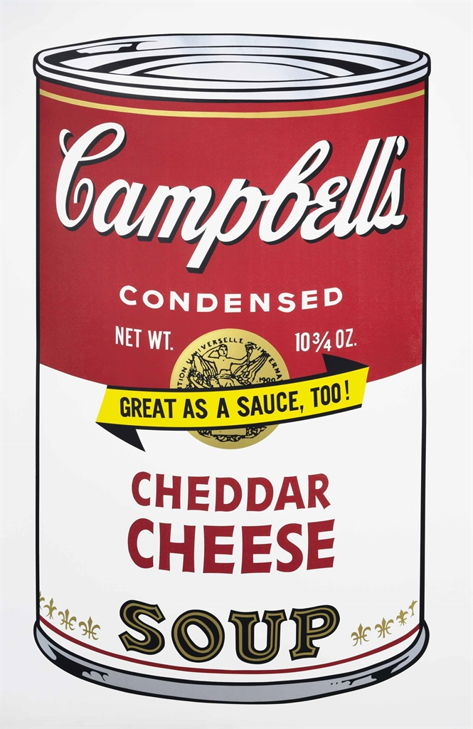Andy Warhol-Cheddar Cheese from: Campbell's Soup II-1969