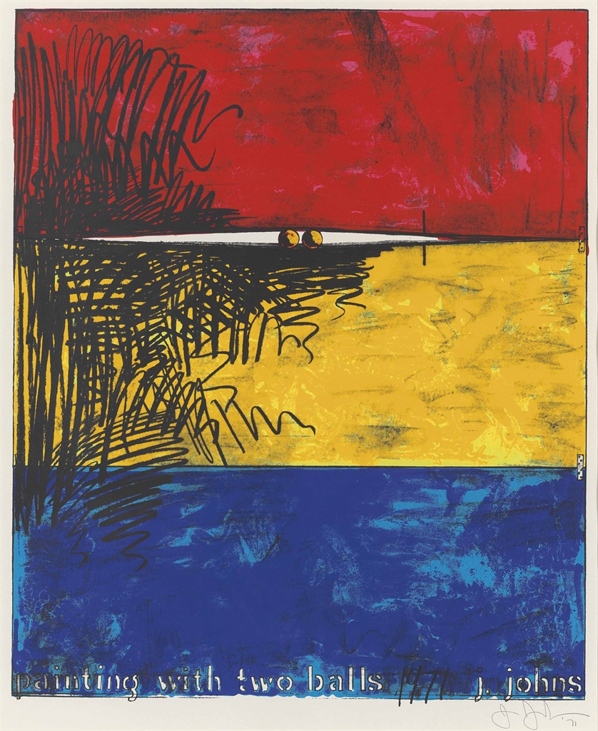 Jasper Johns-Painting with two Balls-1971