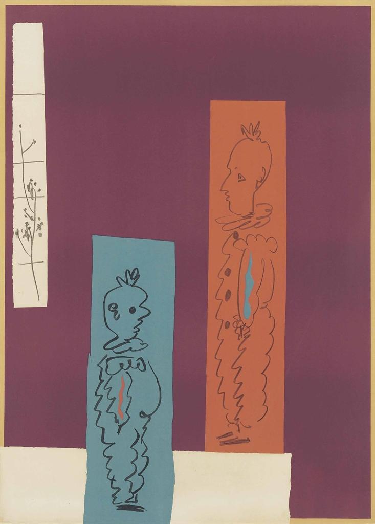 Pablo Picasso-Deux clowns-1954