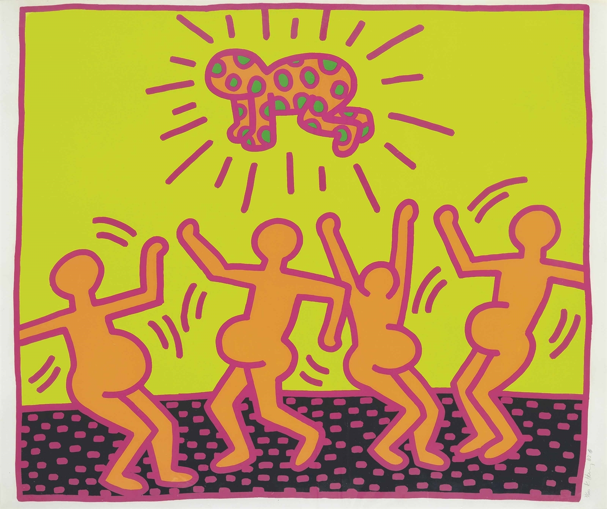 Keith Haring-One plate from: The Fertility Suite-1983