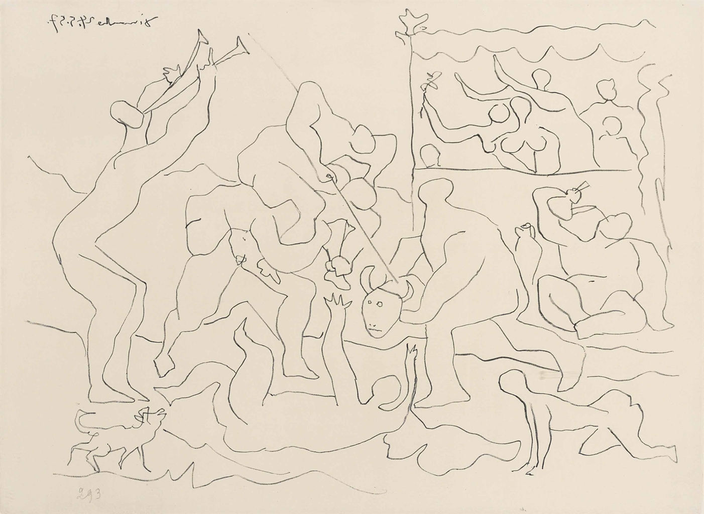 Pablo Picasso-Jeu de la corrida-1957