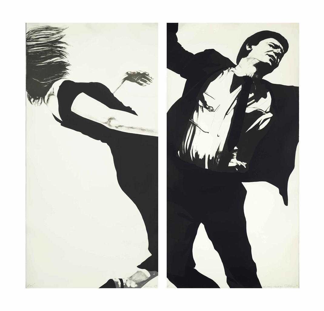 Robert Longo-Joanna and Larry from: Men in the Cities-1983
