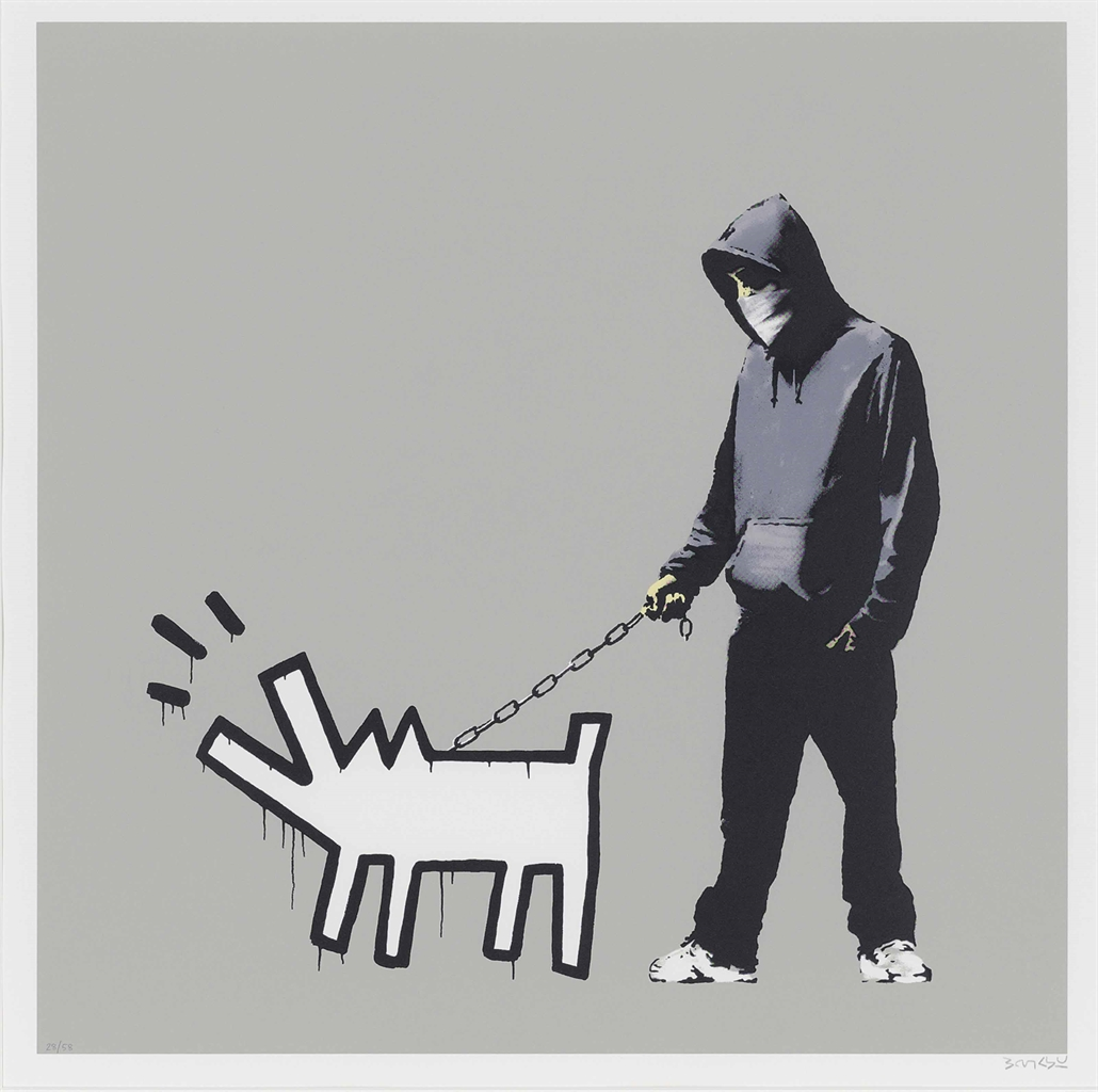 Banksy-Choose your Weapon - Queue Jumping Grey-2010