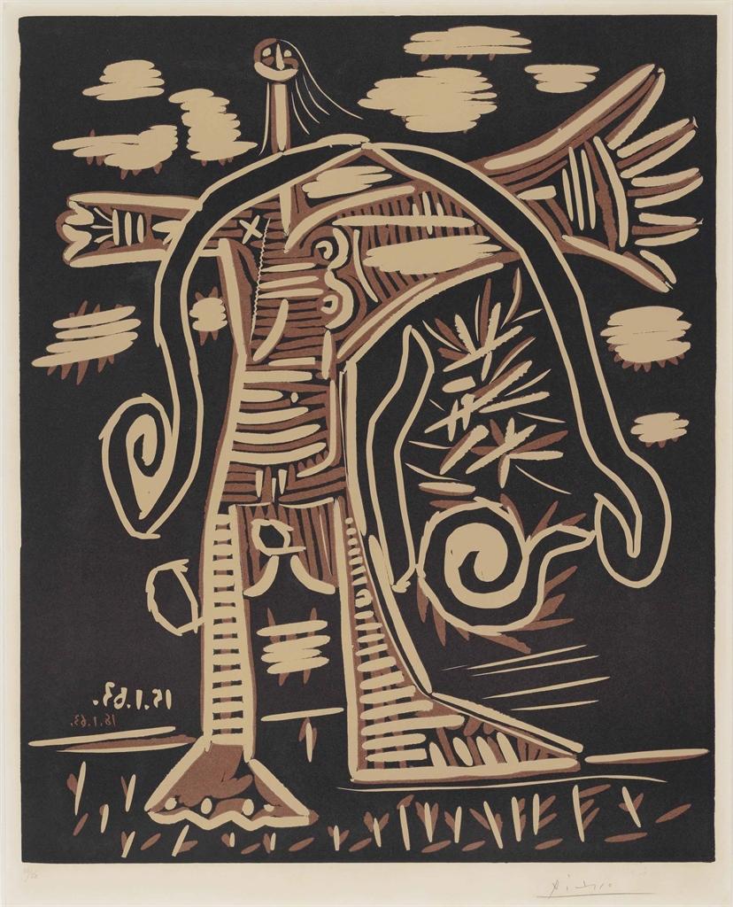 Pablo Picasso-Femme nue débout-1963