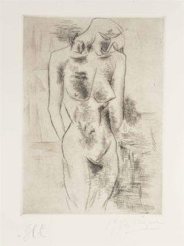 Georges Braque-Etude de nu (Nu)-1908