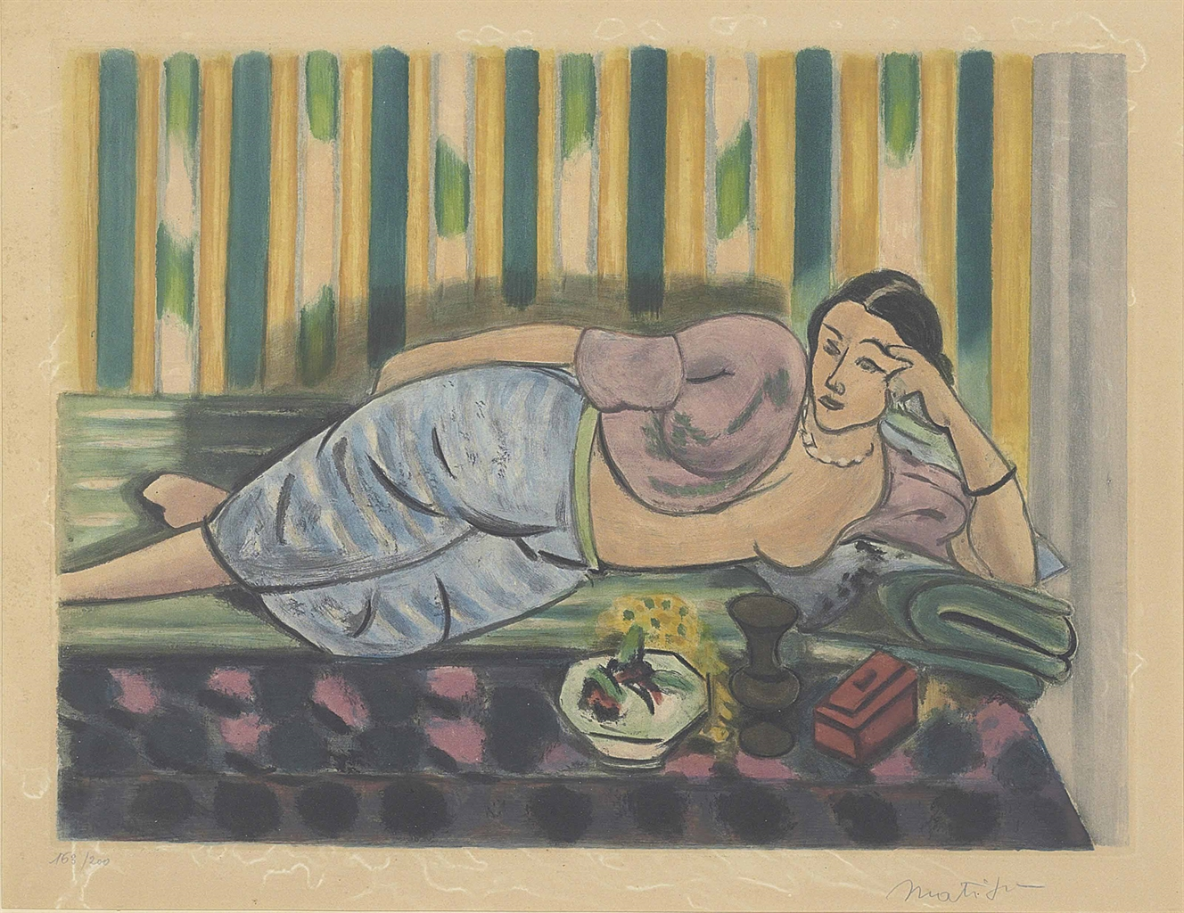 Henri Matisse-After Henri Matisse - Odalisque au coffret rouge-1926
