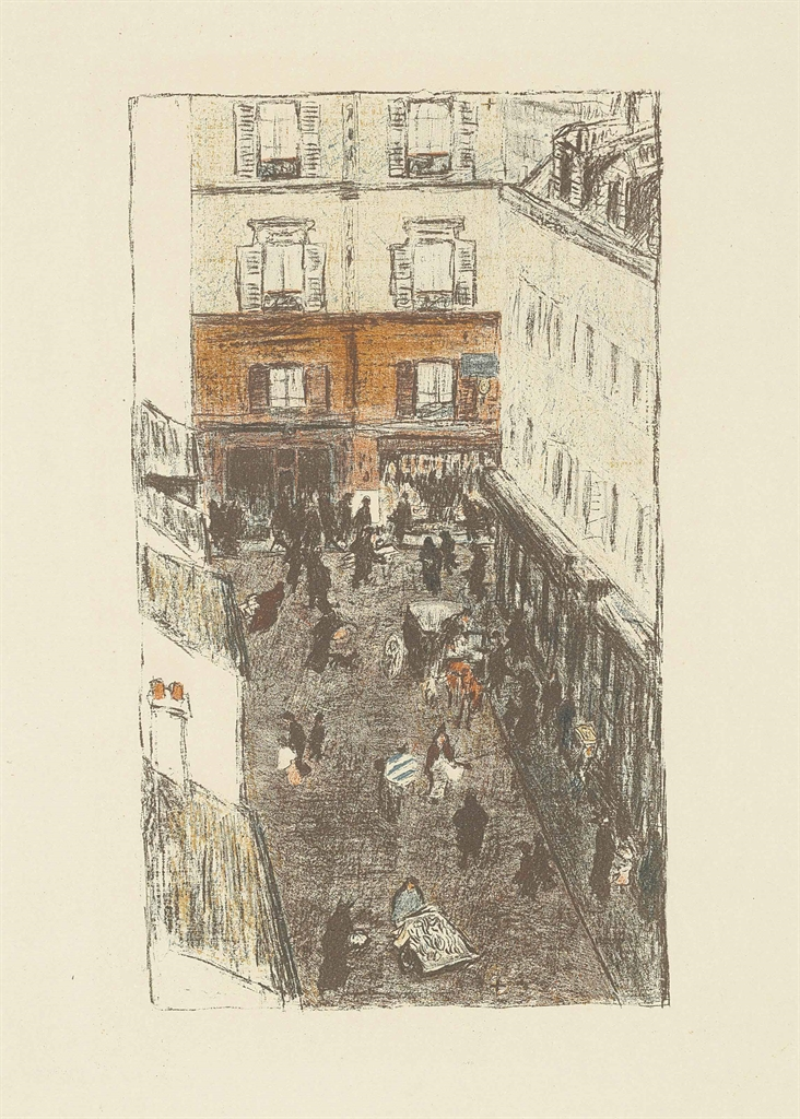 Pierre Bonnard-Coin de rue vue d'en haut from: Quelques aspects de la vie de Paris-1898
