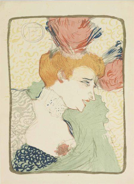 Henri de Toulouse-Lautrec-Mademoiselle Marcelle Lender en buste-1895
