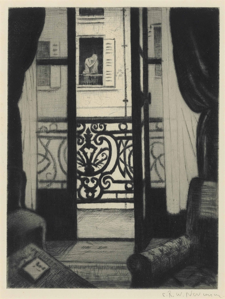Christopher R. W. Nevinson-(From) A Paris Window-1922