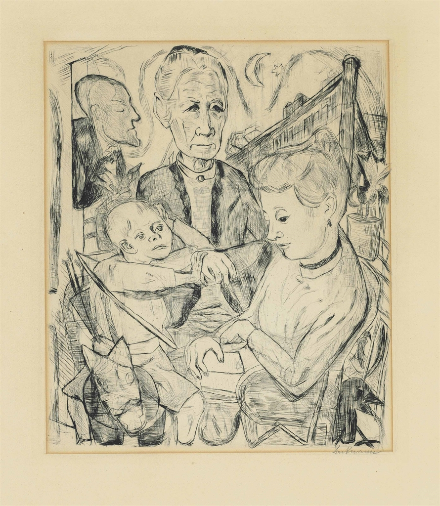 Max Beckmann-Familienszene-1918