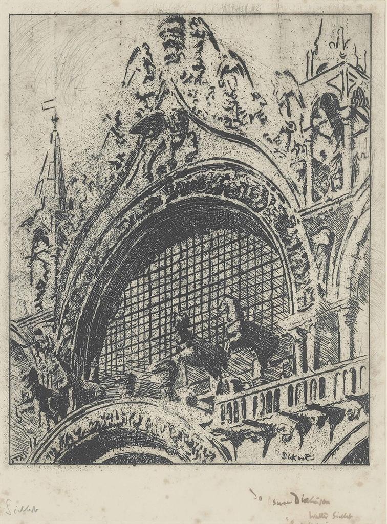 Walter Richard Sickert-Venice The Horses of Saint Mark's (Third Version)-1902