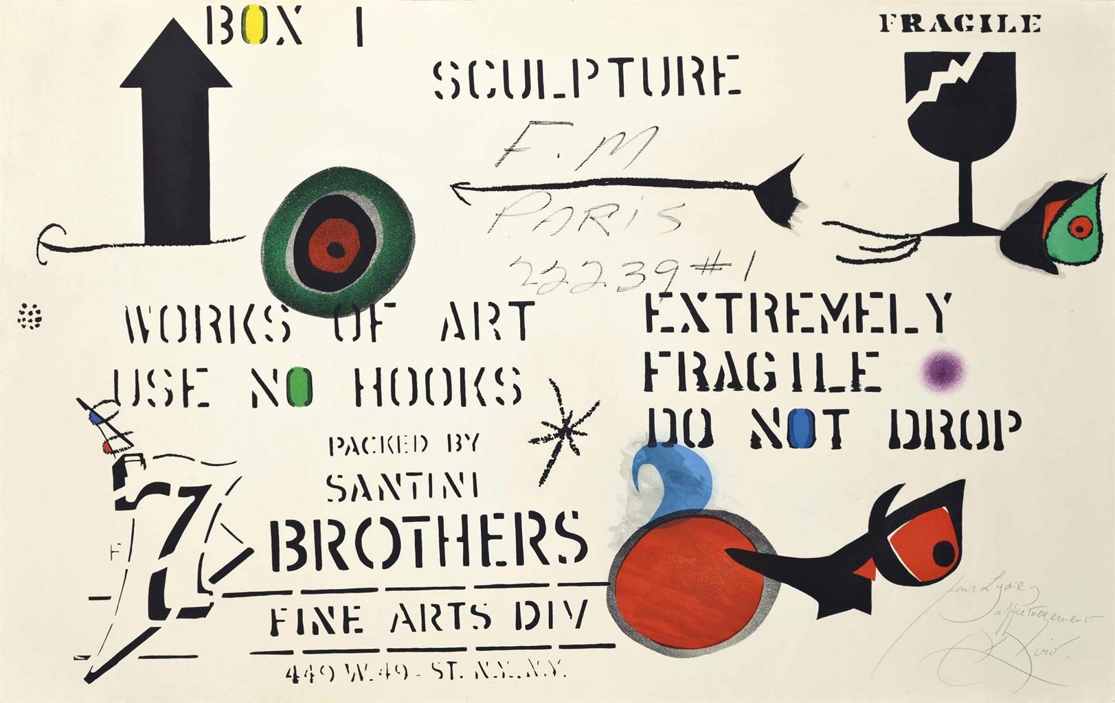 Joan Miro-Emballage-1975