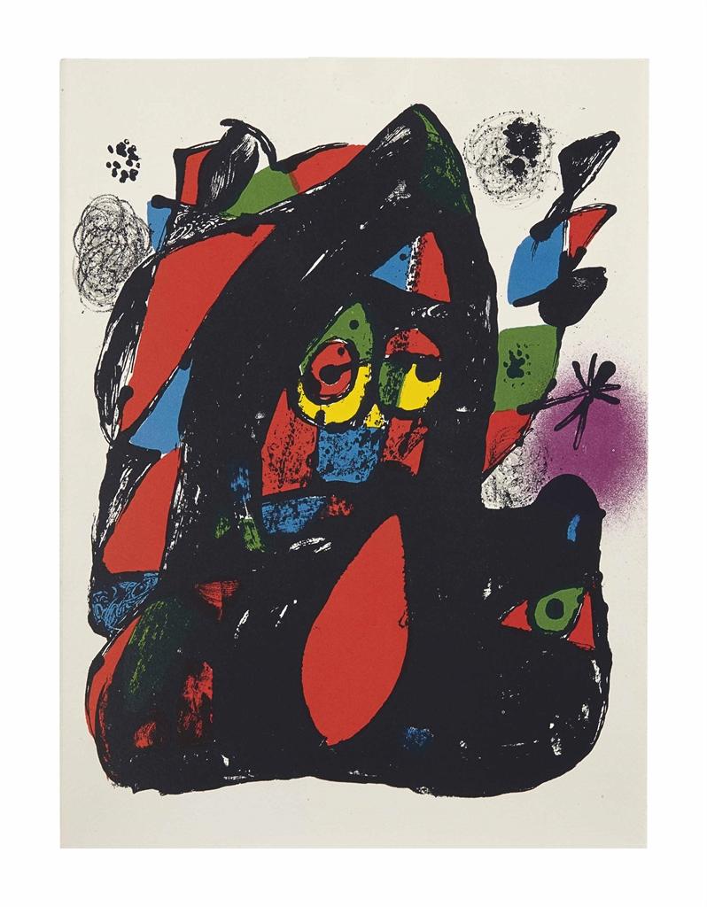Joan Miro-Joan Miró Lithographe IV; four lithographs from Joan Miro Lithographe I; one lithograph from Joan Miro Lithographe II-1981