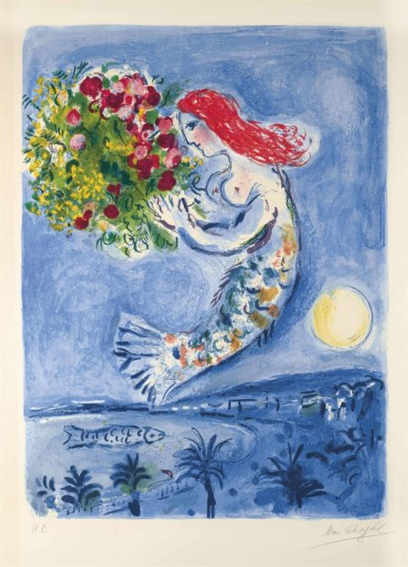 Marc Chagall-Le Baie des Anges-1961