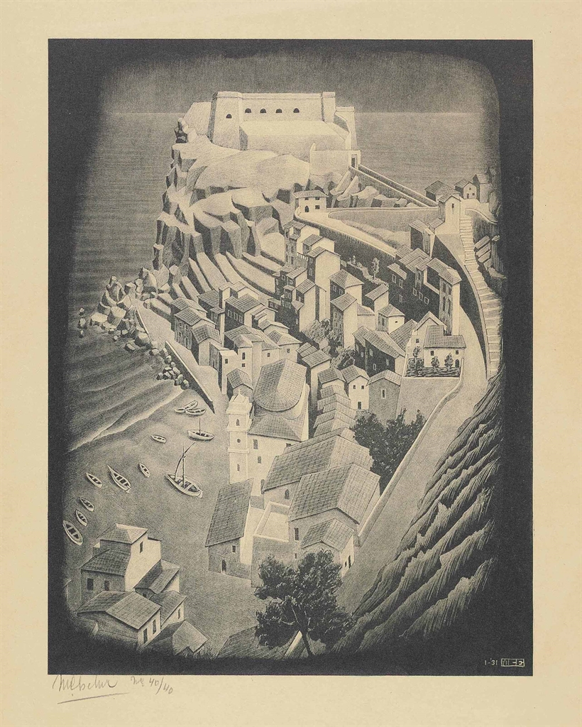 Maurits Cornelis Escher-Scilla Calabria January 1931-1931