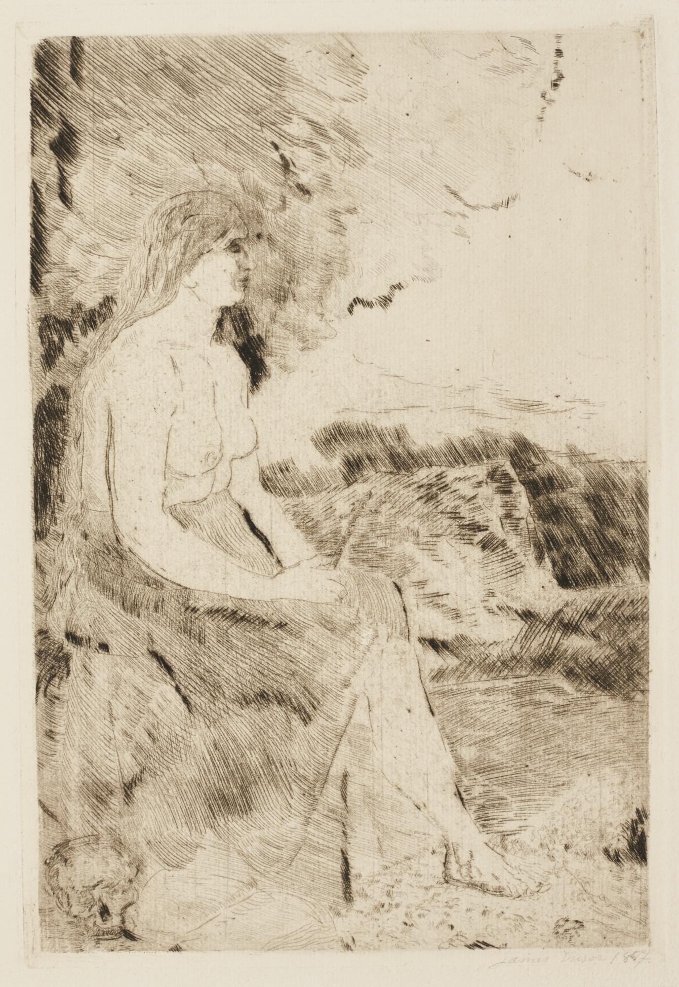 James Ensor-La Madeleine(Delteil Tavernier 9;Elesh10)-1887