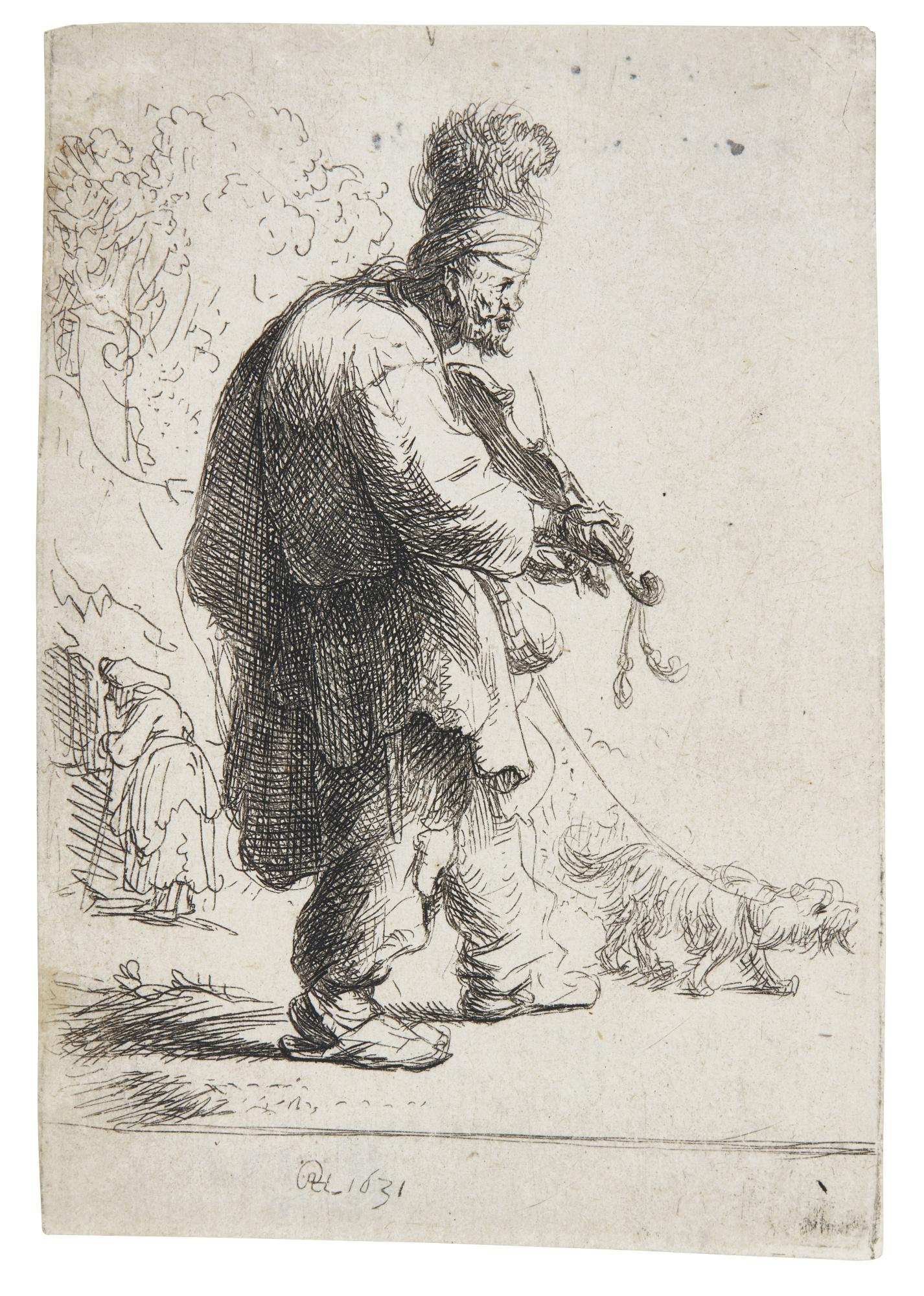 Rembrandt van Rijn-The Blind Fiddler (B. Holl. 138; New Holl. 77; H. 38)-1631