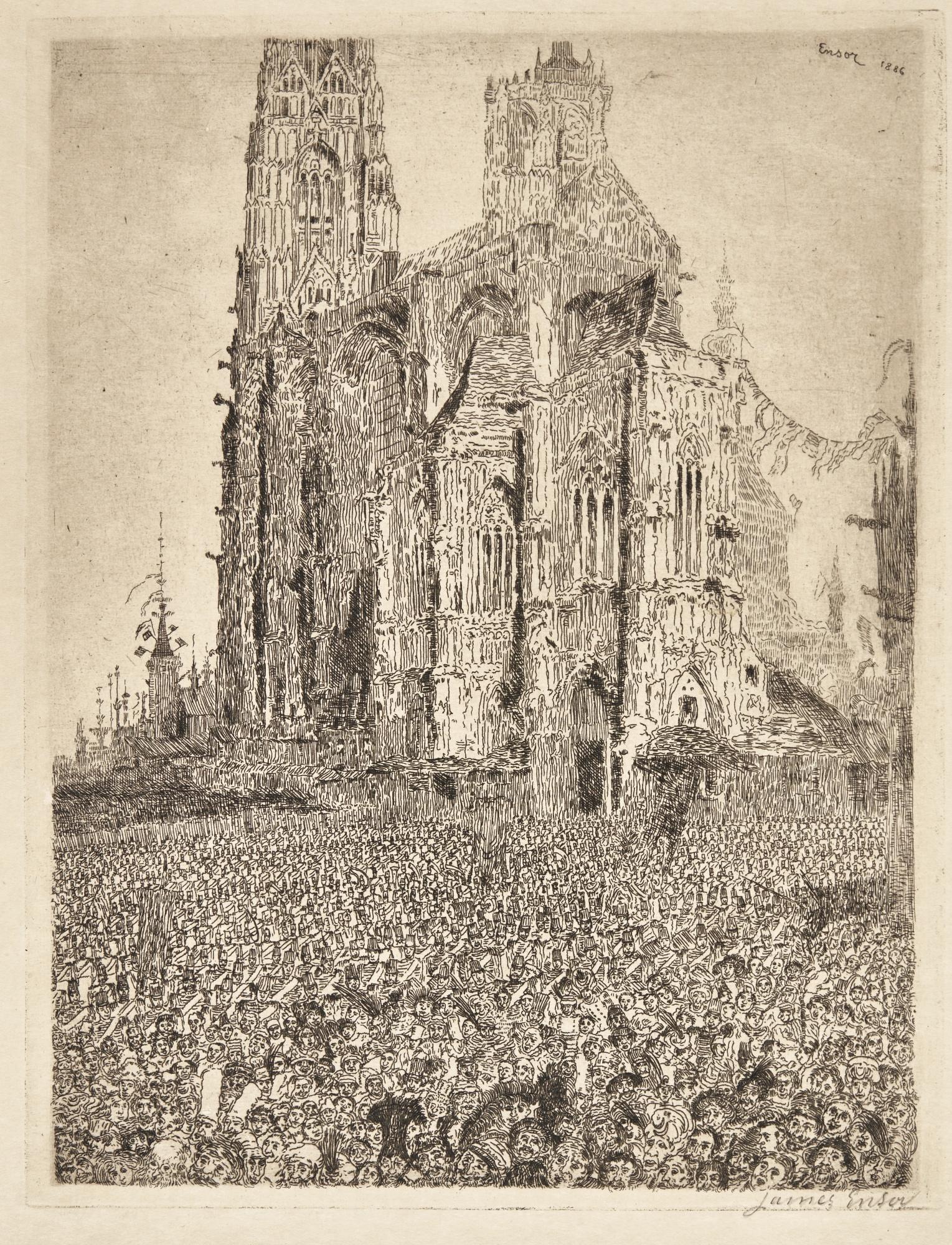 James Ensor-La CathÉDraleDeuxiÈMe Planche (D. T. 105; E. 107)-1896