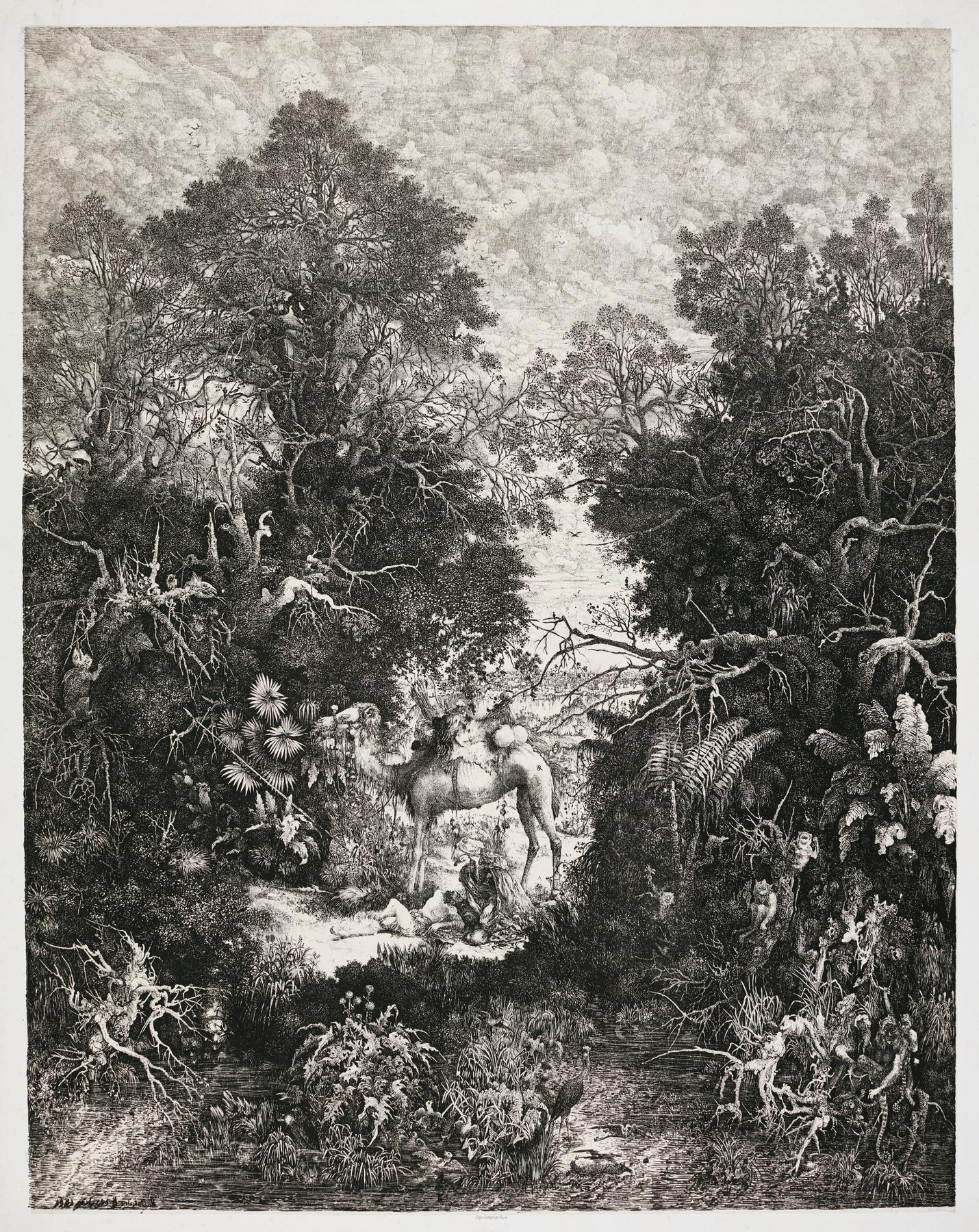 Rodolphe Bresdin-Le Bon Samaritain (Van Gelder 100)-1861