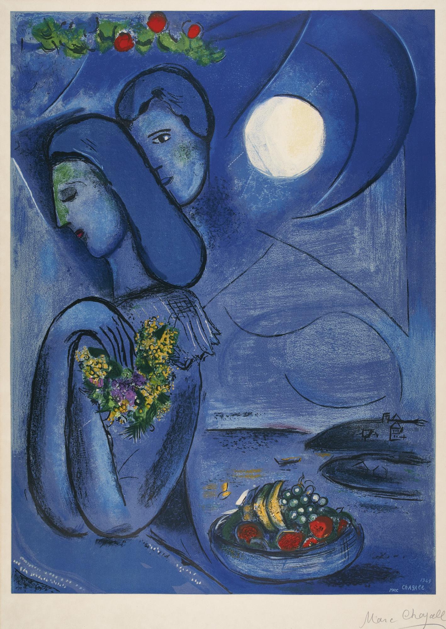 Charles Sorlier-After Marc Chagall - Saint Jean Cap Ferrat (M. Cs 4)-1952