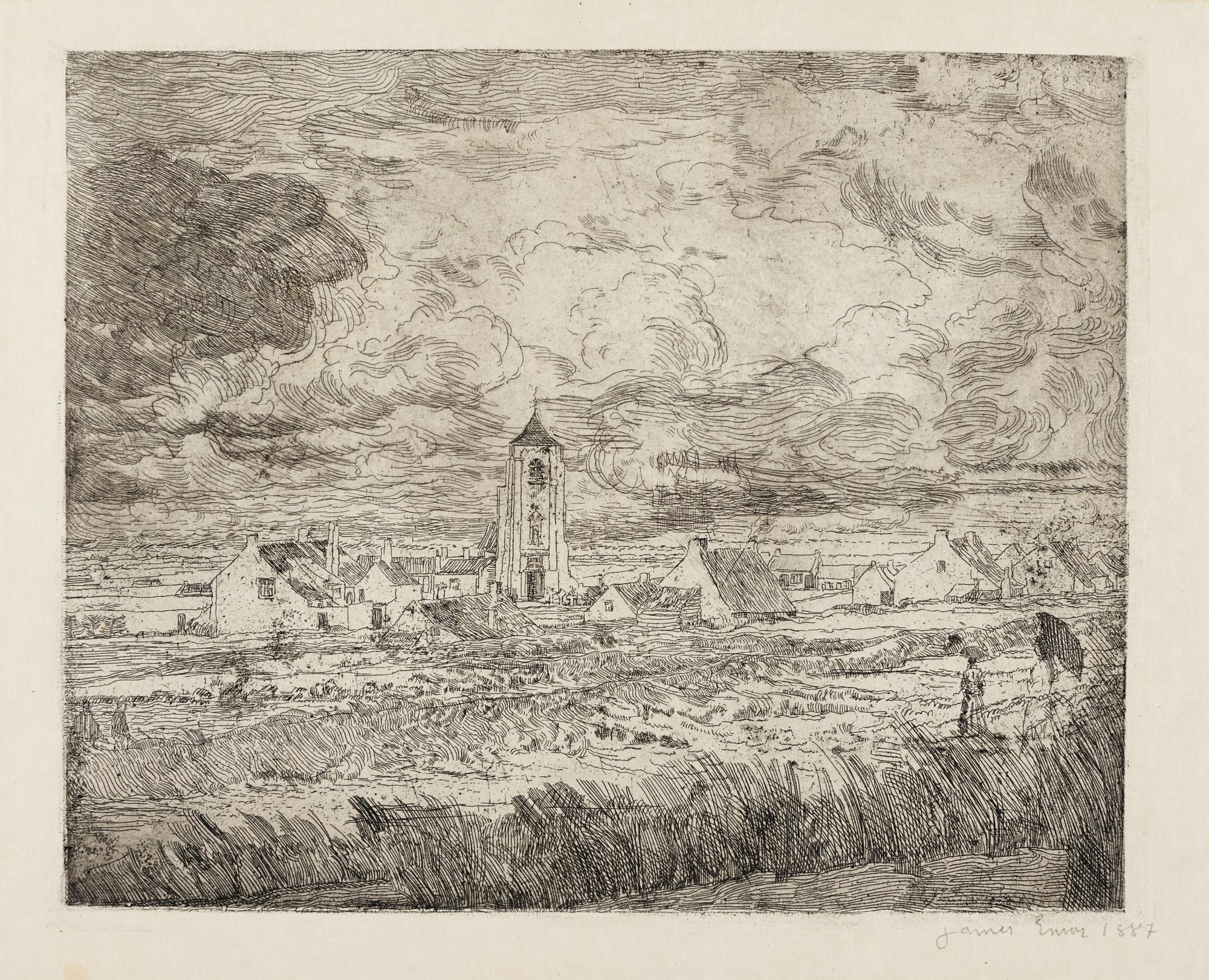 James Ensor-Grande Vue De Mariakerke (D. T. E.13)-1887