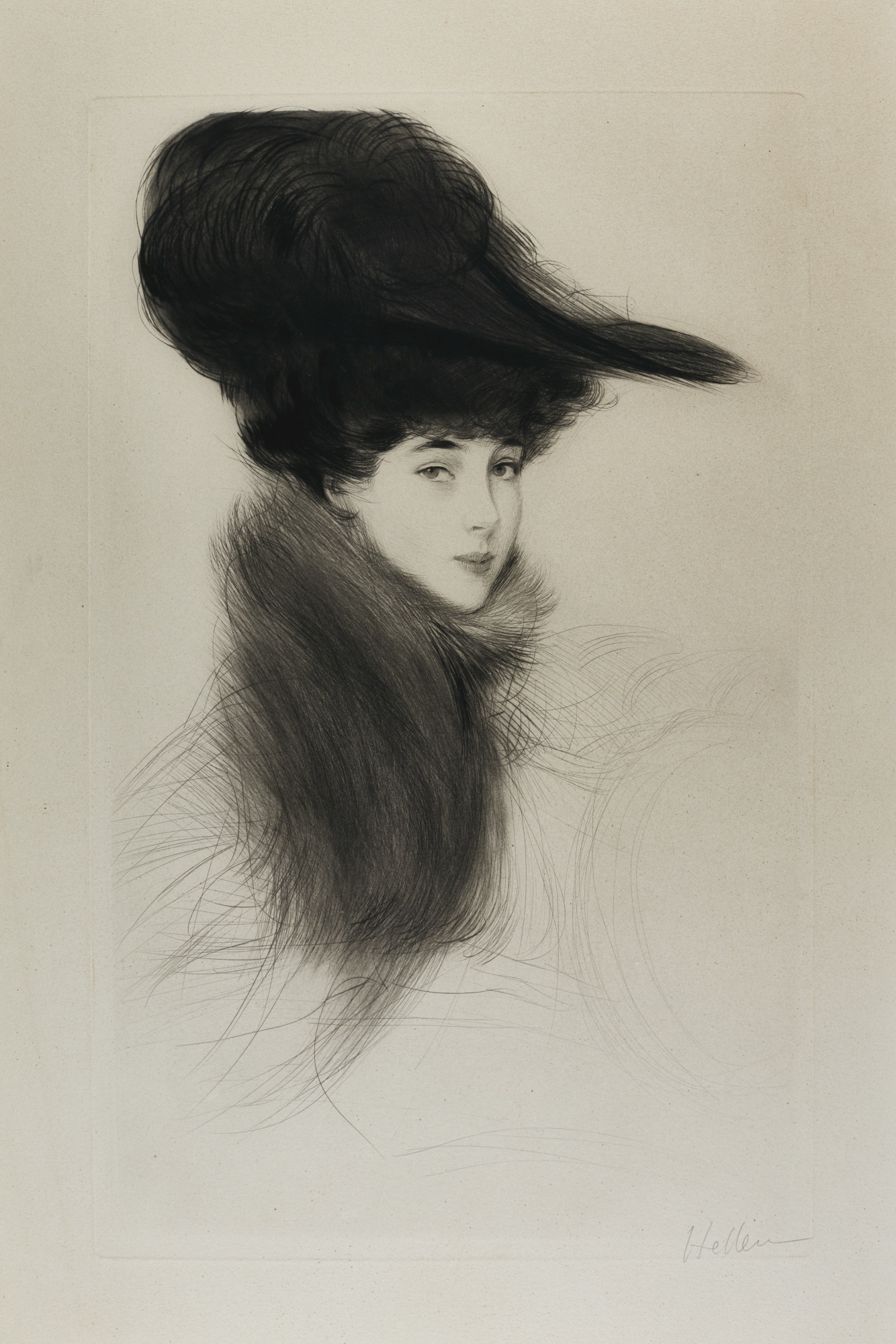 Paul Cesar Helleu-Portrait Of Consuelo Vanderbilt The Duchess Of Marlborough-1901