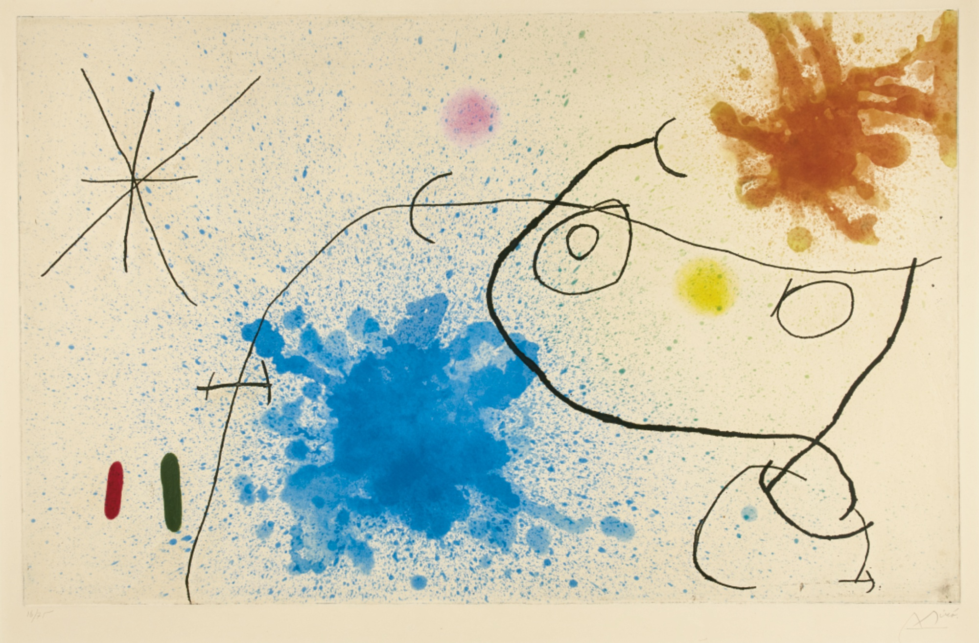 Joan Miro-Petite Fille Devant La Mer (Dupin435)-1967