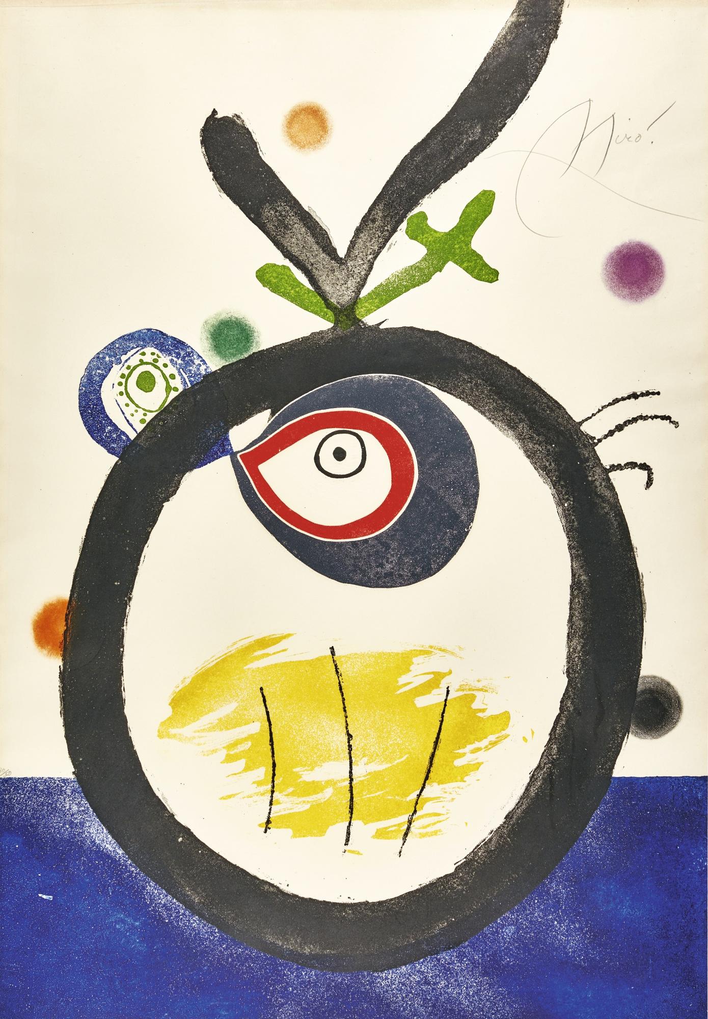 Joan Miro-Quatre Colors Aparien El MÓN (D. 824)-1975
