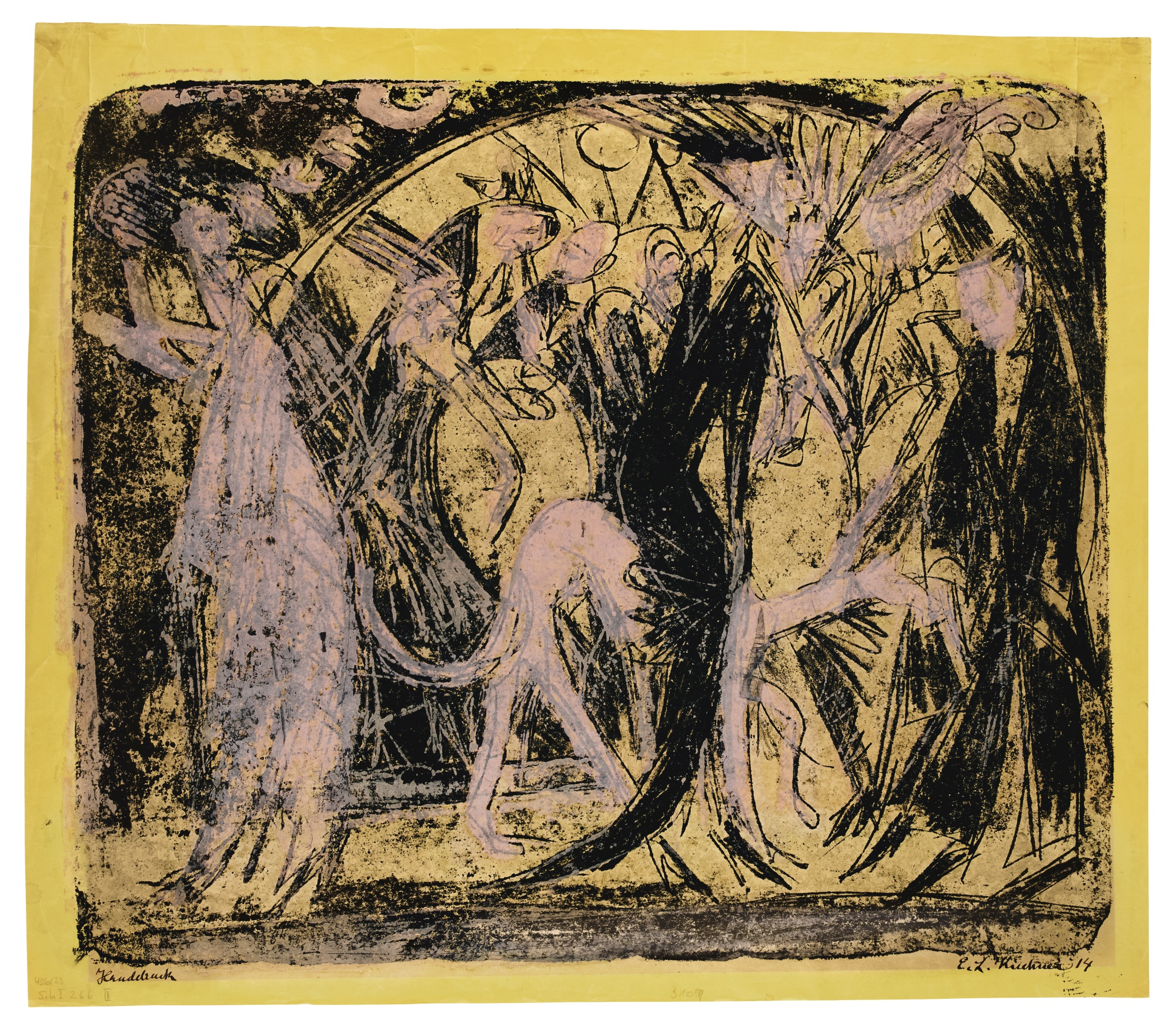 Ernst Ludwig Kirchner-Promenade Vor Dem CafÉ (Kaiser-CafÉ Berlin)(Gercken 670; Dube 244)-1914