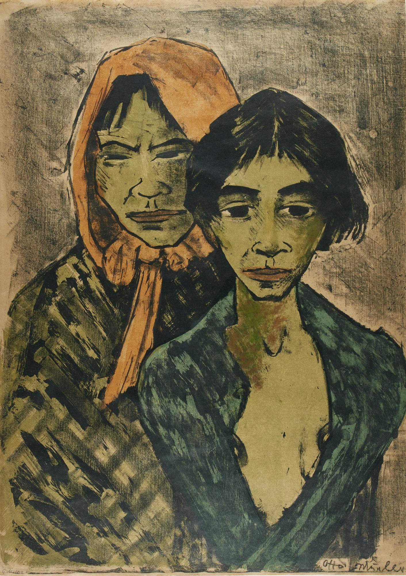 Otto Mueller-Zwei Zigeunerinnen (K. 161)-1927