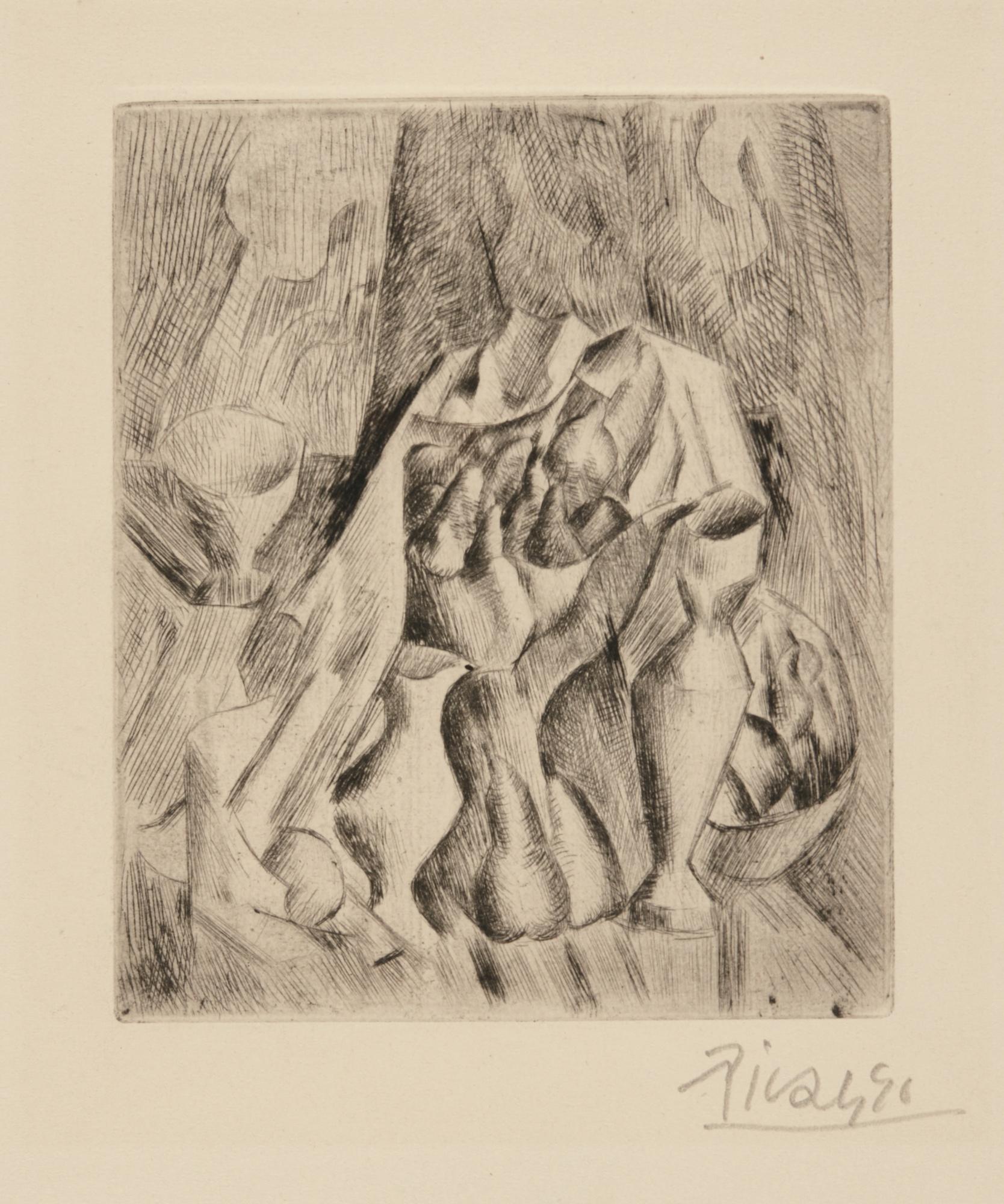 Pablo Picasso-Nature Morte Au Compotier (Bloch 18; Baer 22)-1909