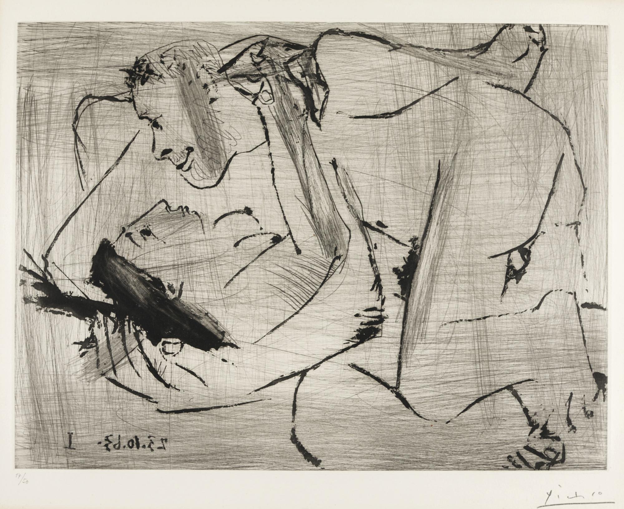 Pablo Picasso-L'Etreinte (B. 1115; Ba. 1108)-1963