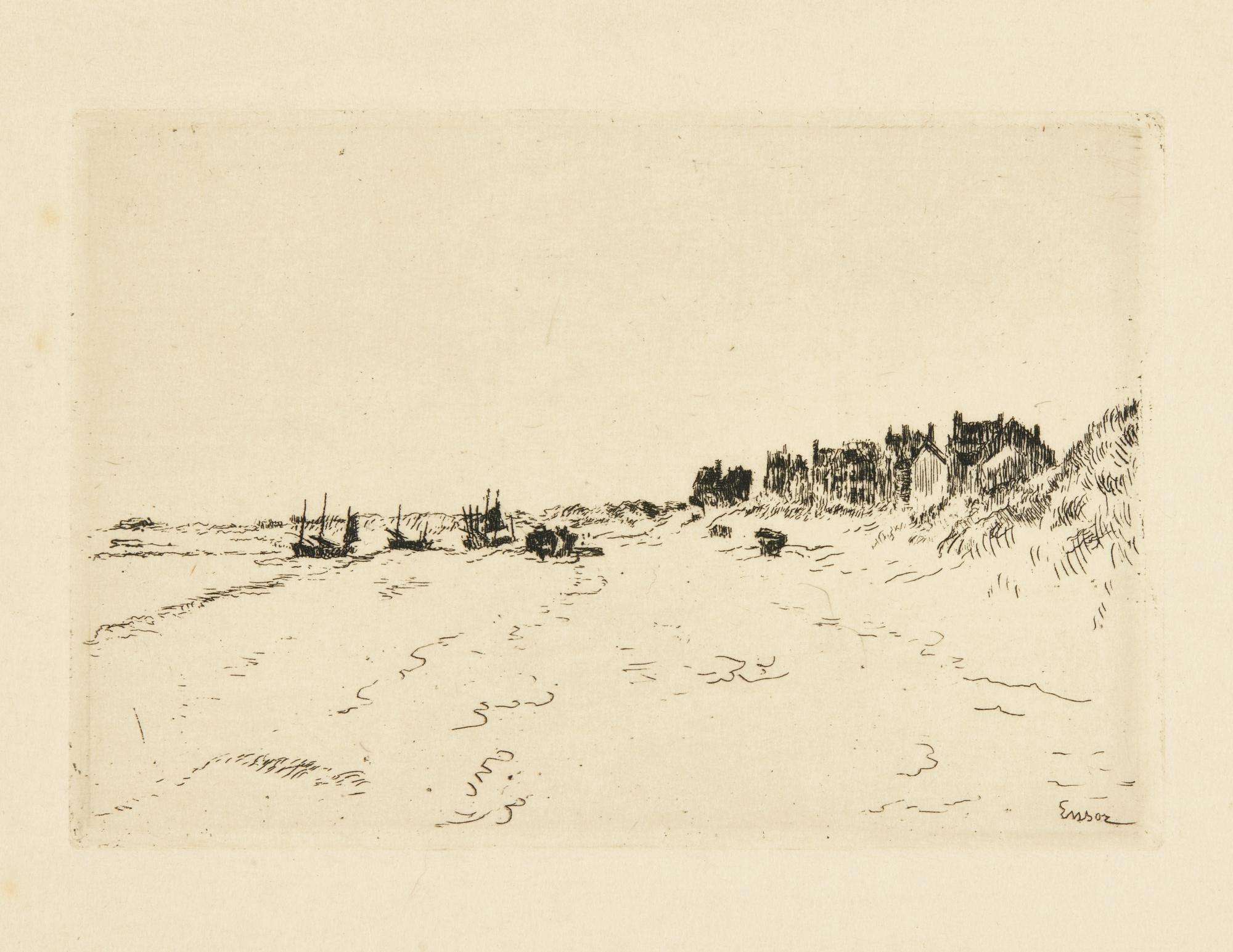 James Ensor-LisiÈRe Du Petit Bois Ostende; Coup De Vent À La LisiÈRe; Le Pont Du Bois Ostende (D. T. E. 27; 47; 69); And Plage De La Panne (D. T.129; E. 134)-1904
