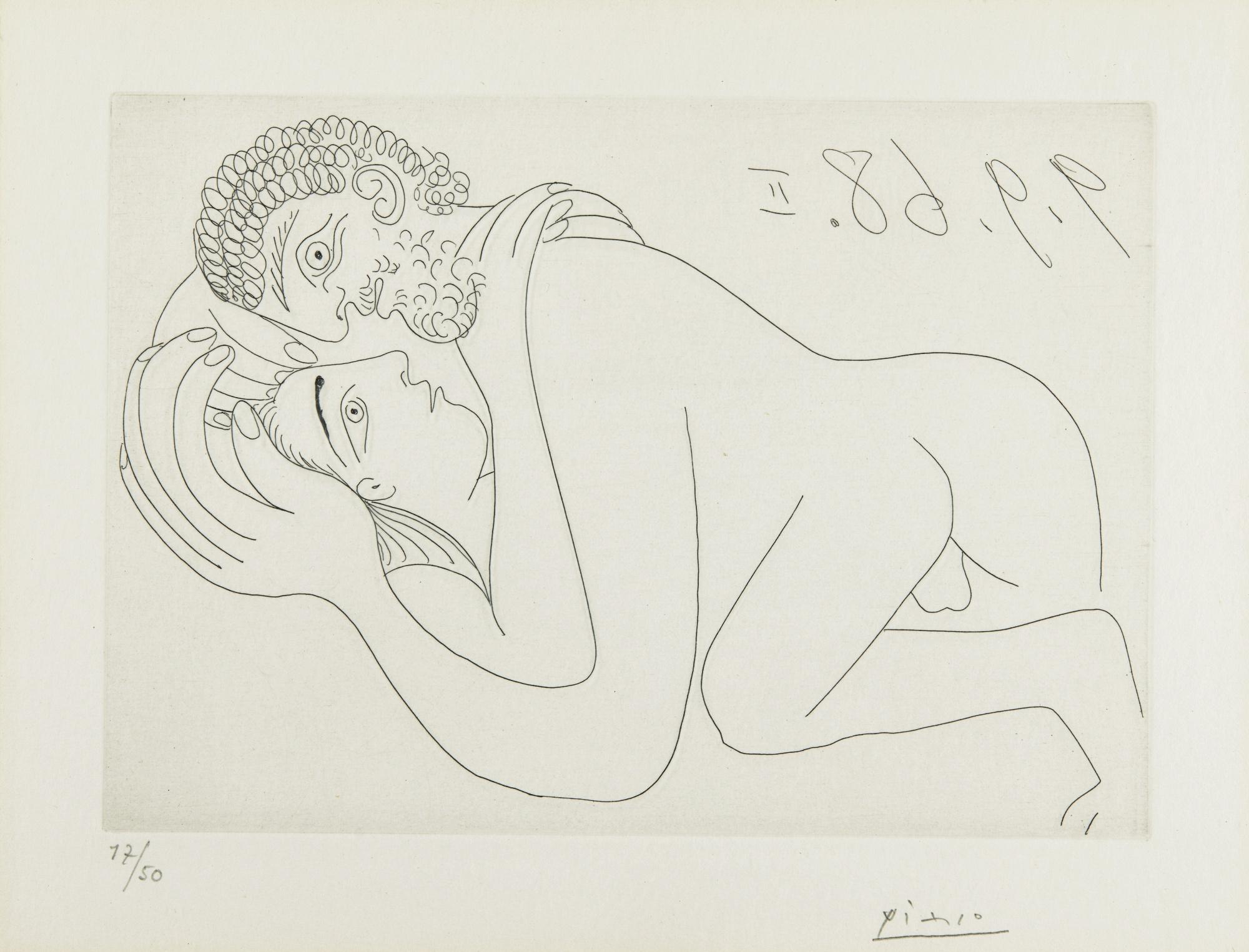 Pablo Picasso-Couple D'Amoureux (RaphaËL Et La Fornarina: Fin) (B. 1800; Ba. 1817)-1968