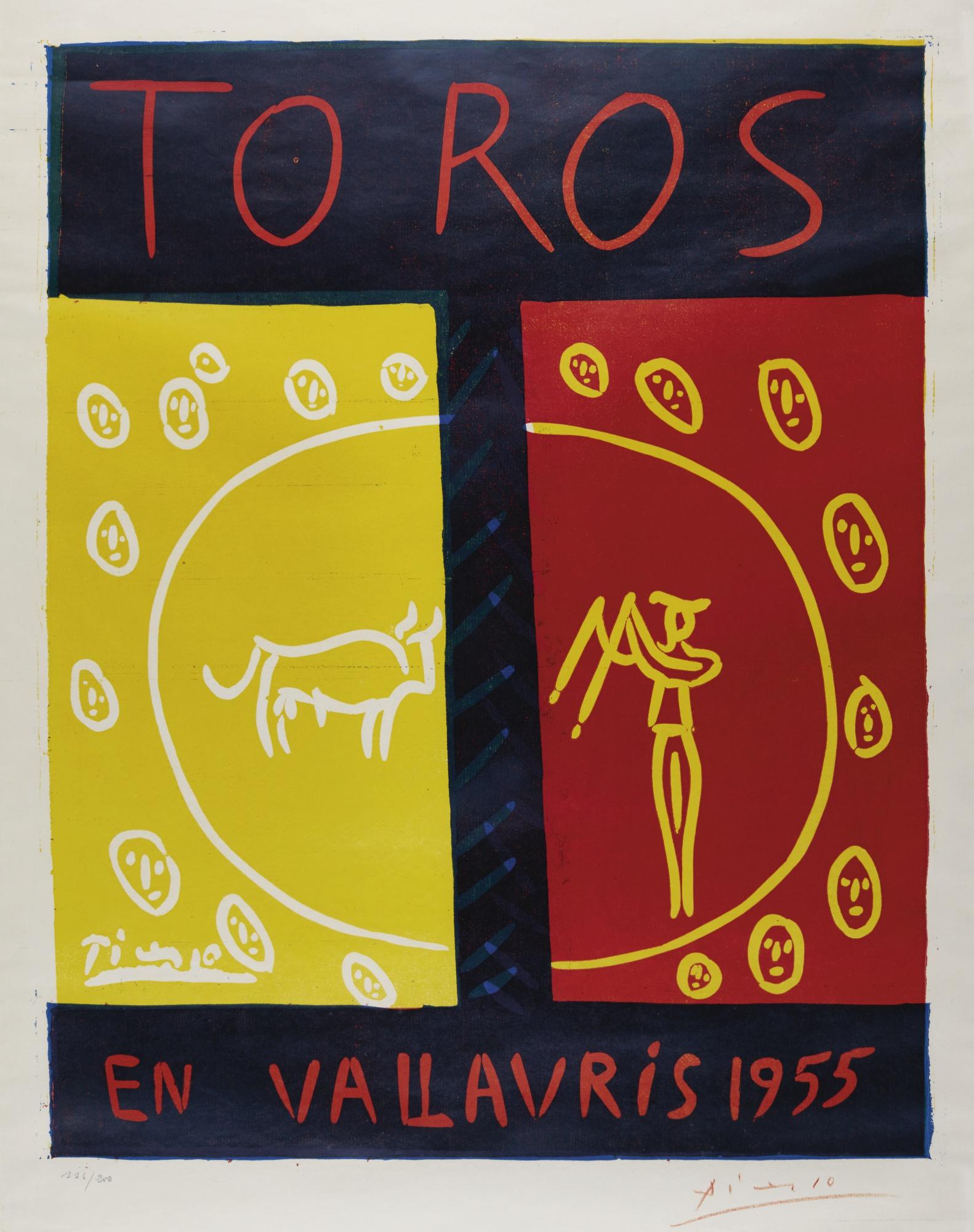Pablo Picasso-Toros En Vallauris 1955 (B. 1265; Ba. 1029; Cz. 14)-1955